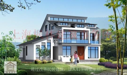 占地17x11二层带阁楼自建别墅设计全套施工图