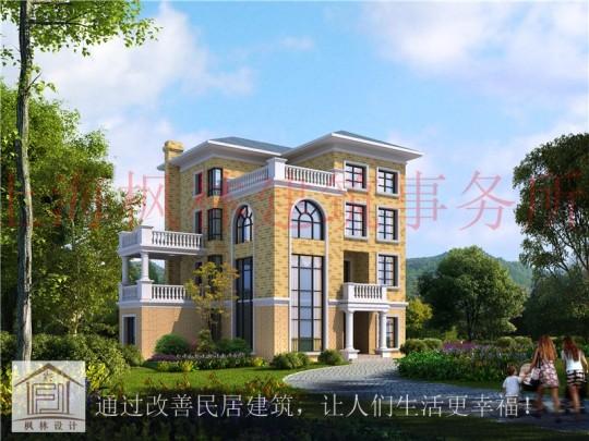 占地14x12四层挑空带阁楼自建别墅设计全套施工图