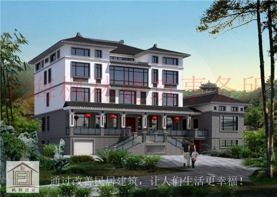 占地25x19五层挑空带阁楼自建别墅设计全套施工图