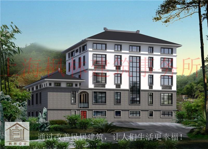 """中式五层别墅设计图"""""""