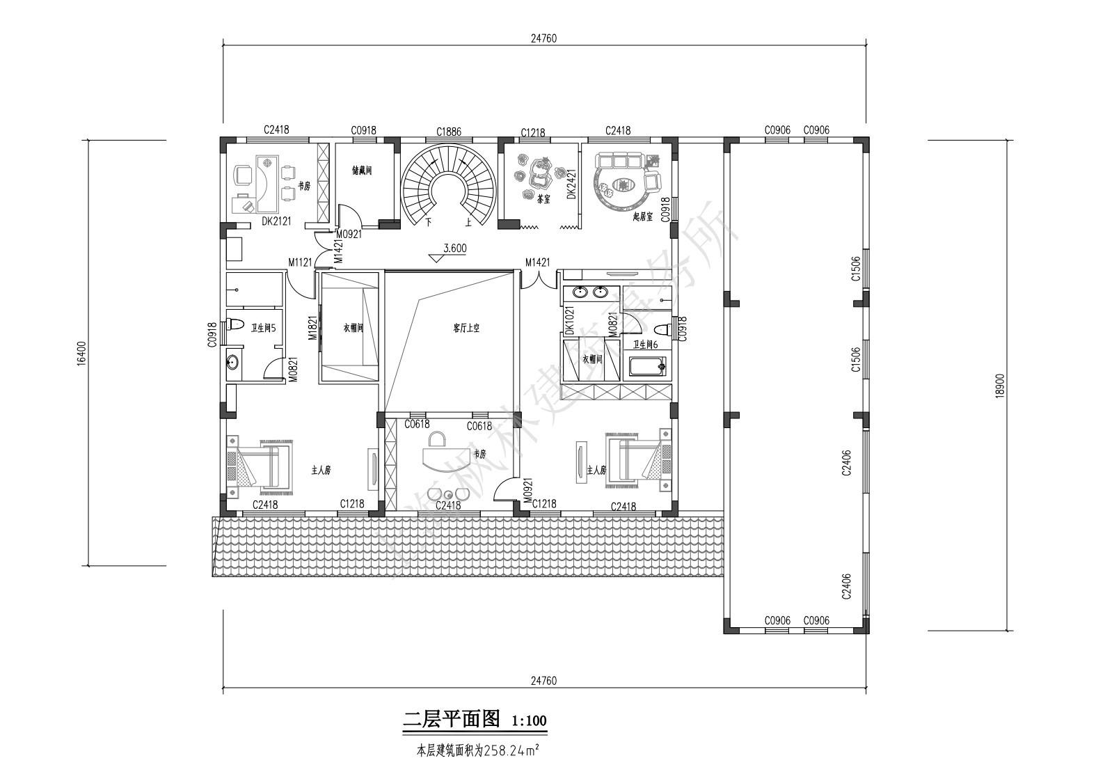 中式五层别墅设计图平面图