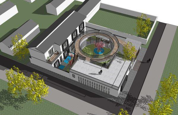 占地19x25二层自建民宿设计全套施工图