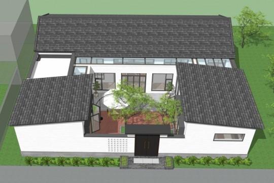 占地19x16一层自建别墅设计全套施工图