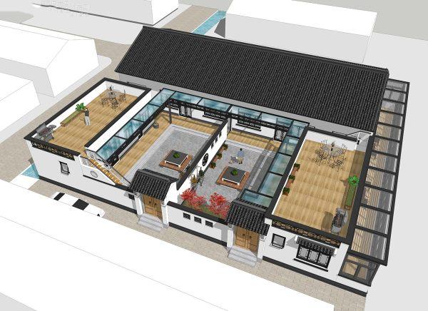 占地28x24一层自建三合院设计全套施工图