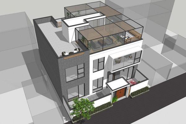 占地13x15三层带露台自建别墅设计全套施工图