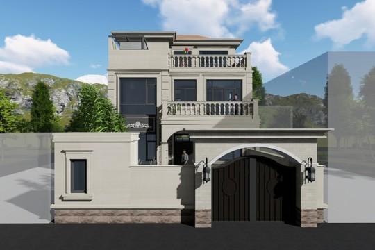 占地9x11三层带露台自建别墅设计全套施工图