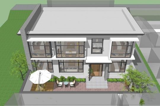 占地14x9二层自建别墅设计全套施工图