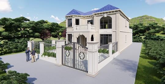 占地24x14二层带车库自建别墅设计全套施工图