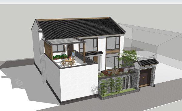 占地14x18二层带露台自建别墅设计全套施工图