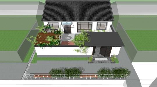 占地14x10一层带庭院自建别墅设计全套施工图