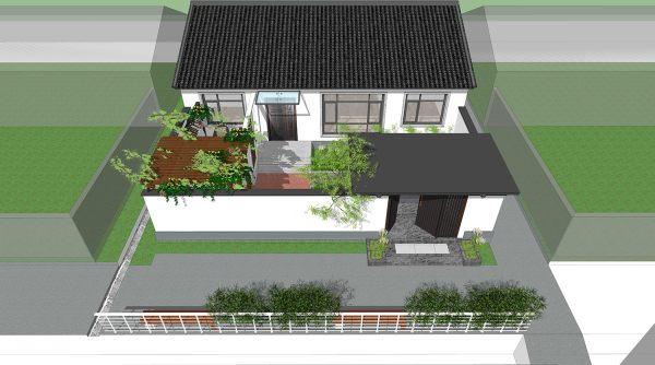占地14x10一層帶庭院自建別墅設計全套施工圖