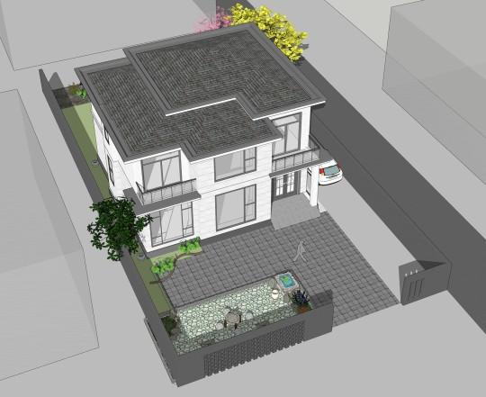 占地12x12二层独栋自建别墅设计全套施工图