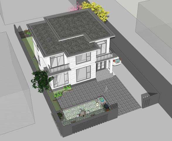 占地12x12两层独栋自建房,带院子,造价38W