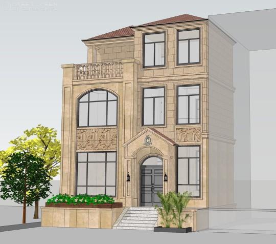占地10x7三层露台自建别墅设计全套施工图