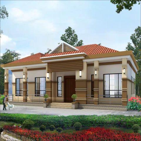 占地18x13一层带阁楼自建别墅设计全套施工图