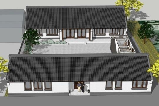 占地21x29一层带庭院自建别墅设计全套施工图