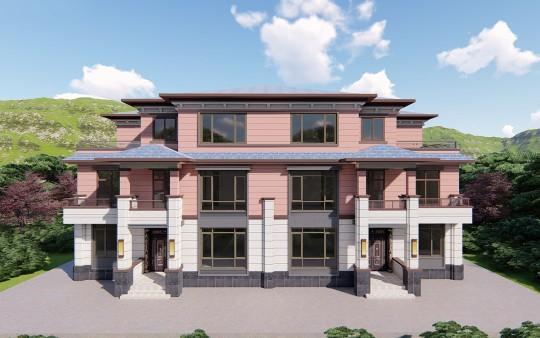 占地24x15三层双拼自建别墅设计全套施工图