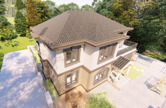占地15x13二層獨棟自建別墅設計全套施工圖