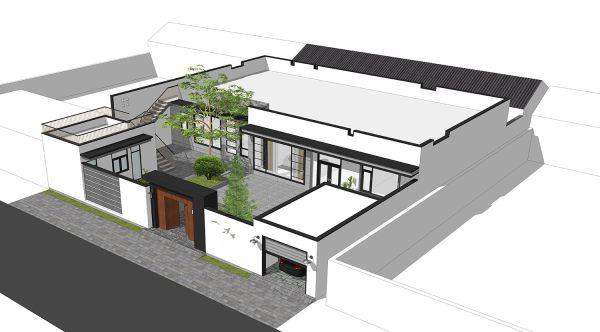 占地21x13一层带露台自建别墅设计全套施工图