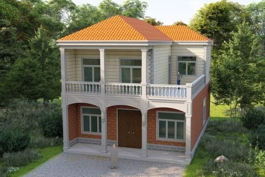 占地15x8二层带露台自建别墅设计全套施工图