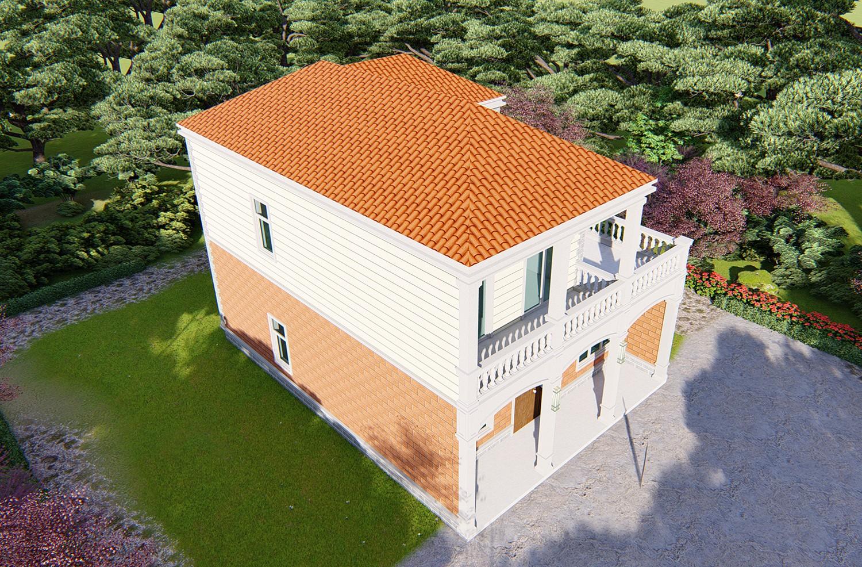 """现代二层别墅设计图"""""""