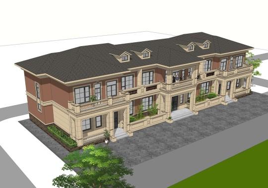 占地37x11二层双拼自建别墅设计全套施工图