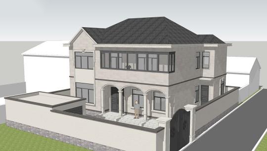 占地14x12二層獨棟自建別墅設計全套施工圖