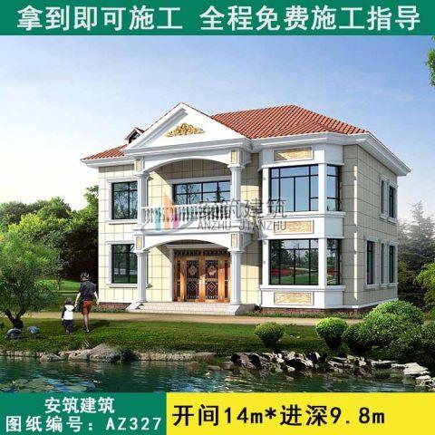 二層農村帶堂屋新款別墅
