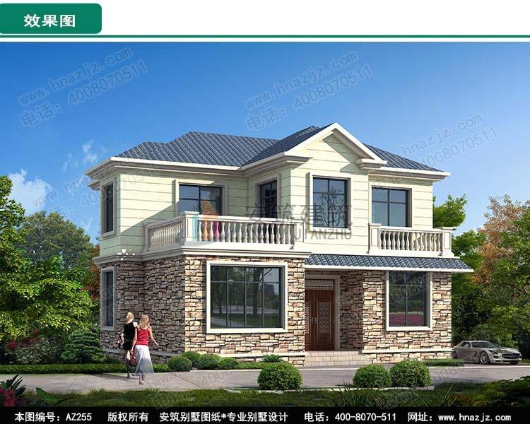 田园二层别墅设计图效果图