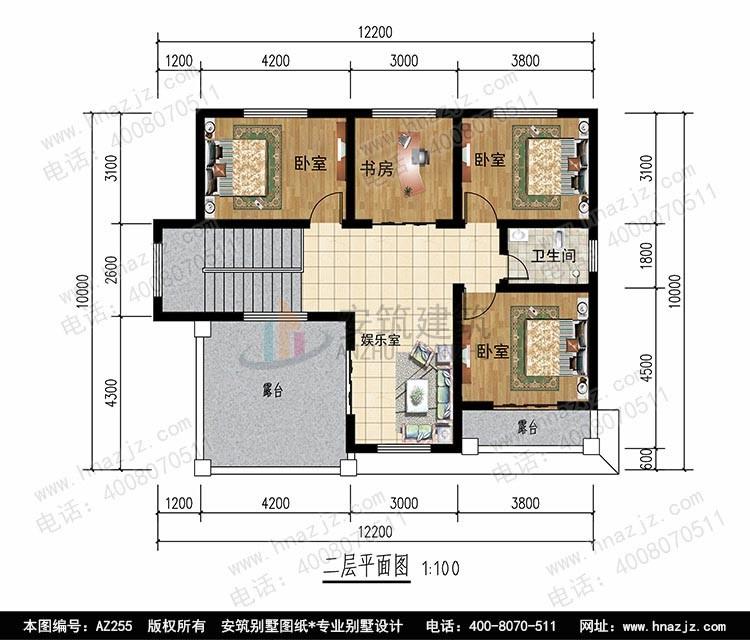 田园二层别墅设计图平面图