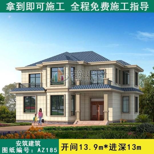 农村二层自建房设计图纸_乡下农村养老房二层效果户型图