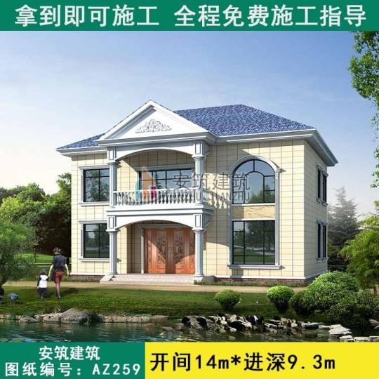 占地14x9三层独栋自建别墅设计全套施工图