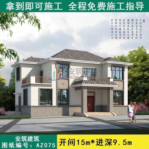 【二层中式】简单耐看中式房屋施工图