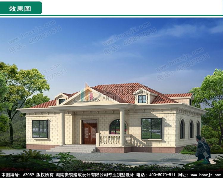 欧式一层别墅设计图效果图