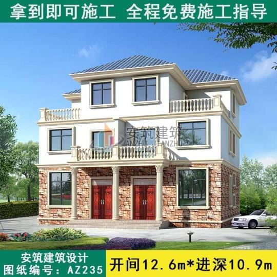 占地13x11三层双拼自建别墅设计全套施工图