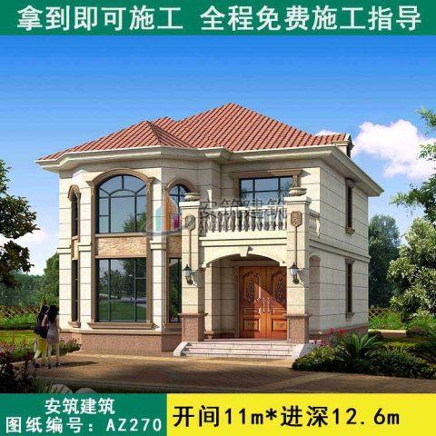 占地11x12二層復式客廳別墅設計圖