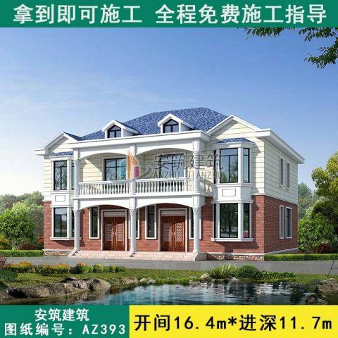 占地16x12二层双拼自建别墅设计全套施工图