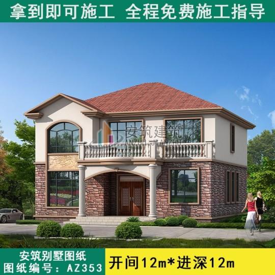 二层农村建房107平方房子设计图