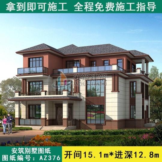 新中式三层自建房设计图