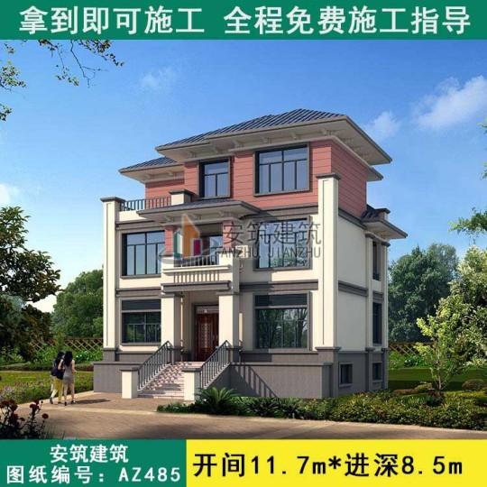一百平米农村别墅外观效果图,带地下室房子设计图