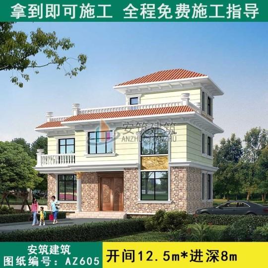 经济型带阳台农村别墅设计图