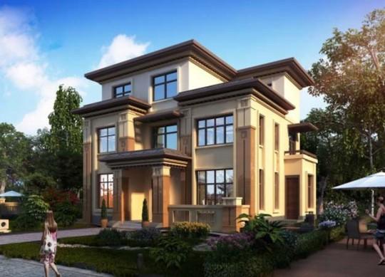 占地120平米乡村三层新中式风格别墅设计图纸