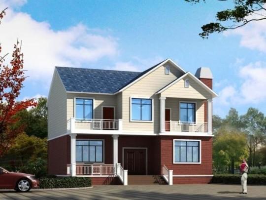 占地11x10两层带露台自建别墅设计全套施工图