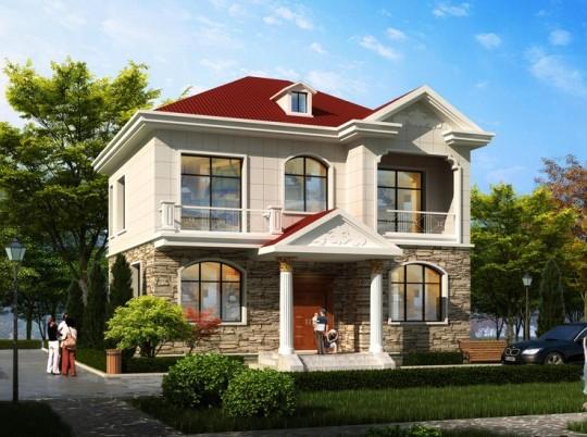 占地10x12两层经济自建别墅设计全套施工图