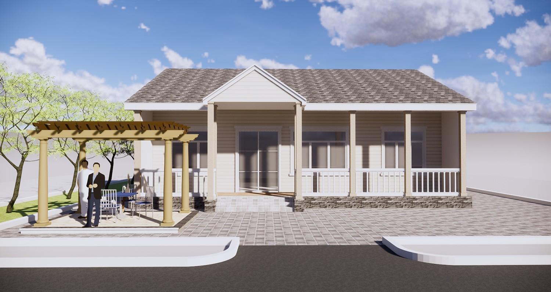现代一层别墅设计图效果图