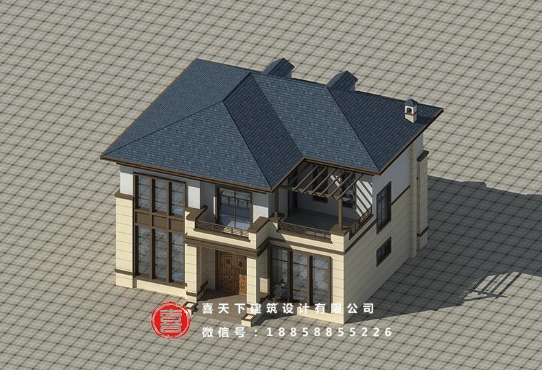 中式二層別墅設計圖效果圖