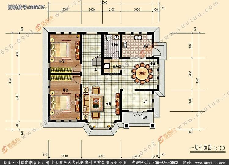 美式二層別墅設計圖平面圖
