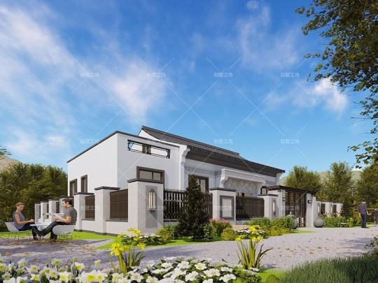 占地15x9一层带阁楼自建别墅设计全套施工图