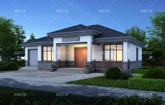 占地17x12一层带车库自建别墅设计全套施工图