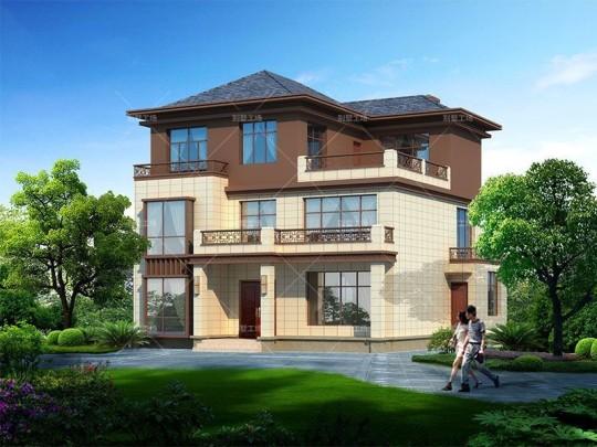 占地13x11三层复式客厅自建别墅设计全套施工图